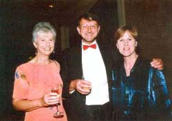 Margot and Rod McLeod celebrate their success with Linda Brock