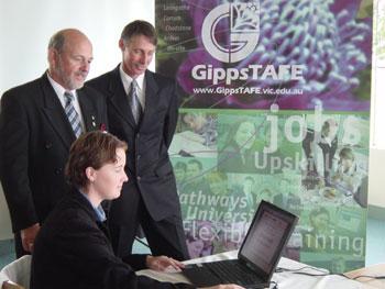 Rob Warren (Gippstafe Business Development Manager), Evan Platschinda And Leah Donaldson (Gippstafe Business Development Officer) Exploring Gippsrealestate